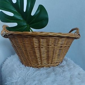Vintage Wicker Rattan Basket
